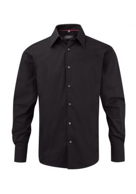 Russell Collection Long Sleeve Tencel Fitted Shirt