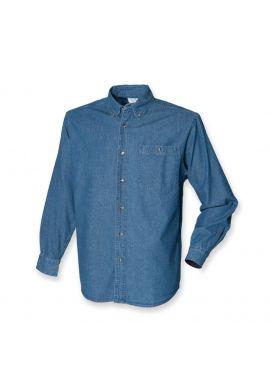Front Row Long Sleeve Lightweight Denim Shirt