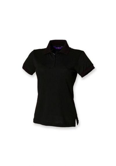 Henbury Ladies Stretch Cotton Pique Polo Shirt