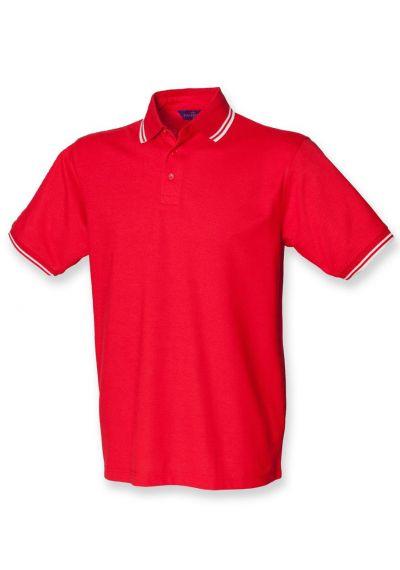 Henbury Kids Tipped Poly/Cotton Pique Polo Shirt
