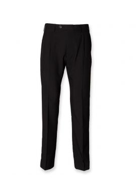 Henbury Single Pleat Polyester Trousers