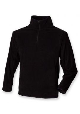 Henbury Zip Neck Inner Micro Fleece