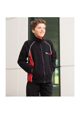 Finden and Hales Kids Contrast Micro Fleece Jacket
