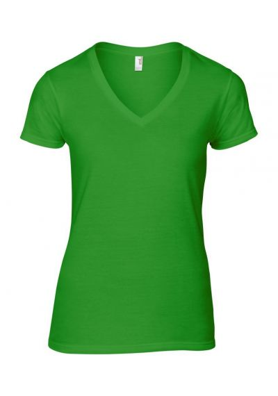 Ladies Fashion Basic V Neck T-Shirt
