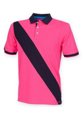 Front Row Kids Diagonal Stripe House Pique Polo Shirt