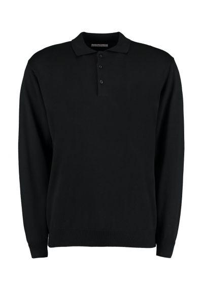 Kustom Kit Long Sleeve Arundel Knitted Polo