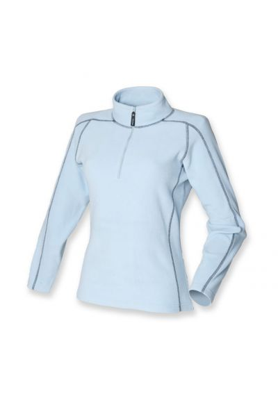 Front Row Ladies Zip Neck Micro Fleece