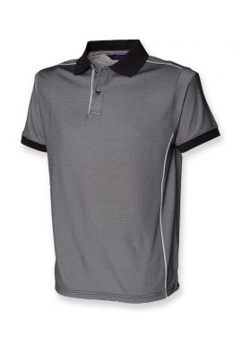 Henbury Coolplusu00ae Anti-Bac Textured Polo Shirt