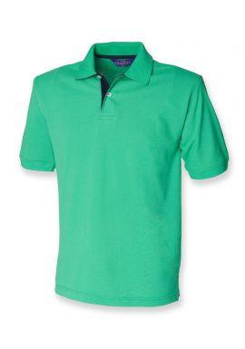 Henbury Contrast Poly/Cotton Pique Polo Shirt