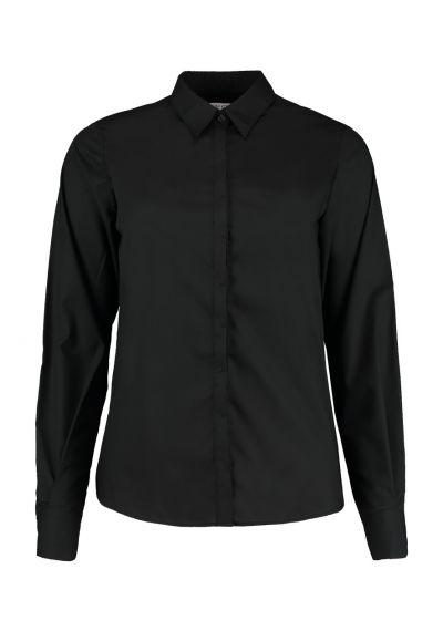 Kustom Kit Ladies Long Sleeve Contemporary Business Shirt
