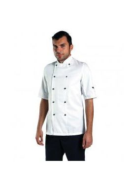 Dennys Short Sleeve Removable Stud Chef's Jacket
