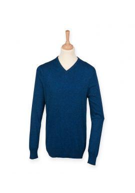 Henbury V Neck Marl Sweater