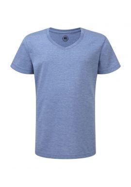 Russell Girls V Neck HD T-Shirt