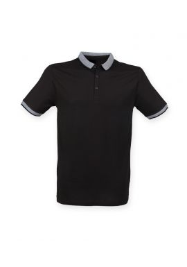 SF Men Contrast Fashion Jersey Polo Shirt