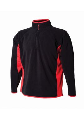 Finden and Hales Zip Neck Contrast Lightweight Micro Fleece