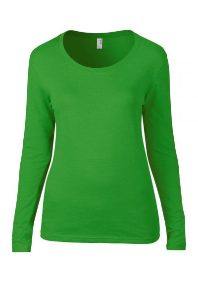 Anvil Ladies Featherweight Long Sleeve Scoop Neck T-Shirt