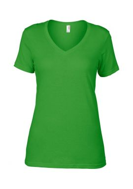 Anvil Ladies Featherweight V Neck T-Shirt