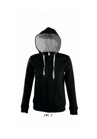 SOL'S Ladies Soul Contrast Zip Hooded Jacket