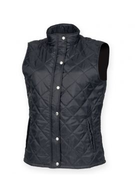 Front Row Ladies Diamond Quilted Gilet