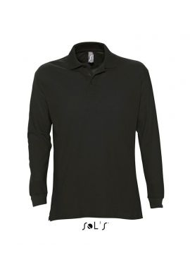 SOL'S Star Long Sleeve Cotton Piqué Polo Shirt