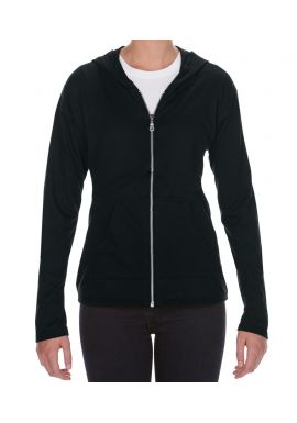 Anvil Ladies Tri-Blend Hooded Jacket