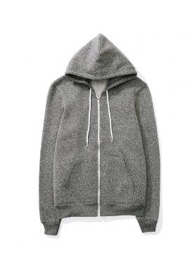 American Apparel Unisex Salt and Pepper Zip Hooded Sweatshirt