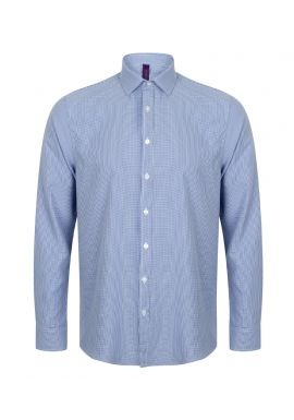 Henbury Gingham Long Sleeve Shirt