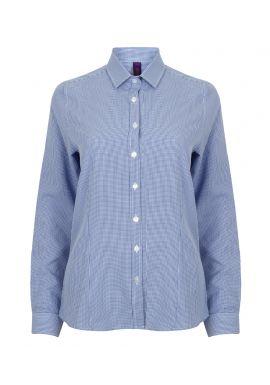 Henbury Ladies Gingham Long Sleeve Shirt