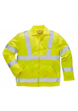 Hi-Vis Poly-cotton Jacket E040