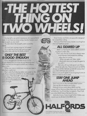 Halfords BMX advert, Dec 1980