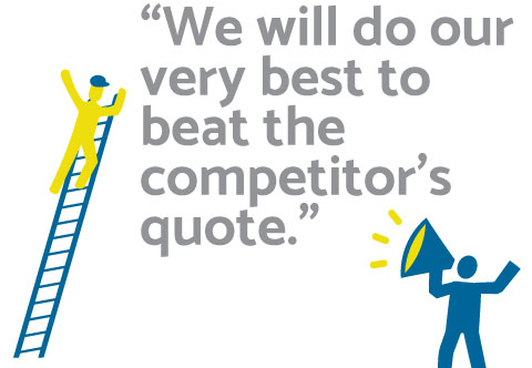 We will do our very best to beat the competitors quote