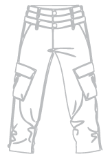 Trousers outline